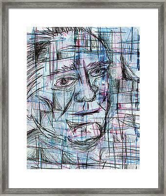 Johnny Cash Framed Print by Jera Sky