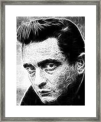 Johnny Cash Framed Print by Paul Van Scott
