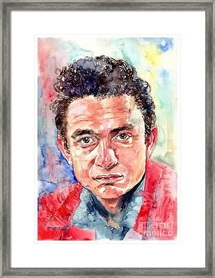 Johnny Cash Portrait Framed Print