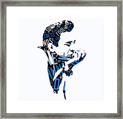 Johnny Cash Song Lyric I Walk The Line Framed Print by Marvin Blaine