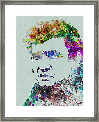 Johnny Cash Watercolor 2 Framed Print by Naxart Studio