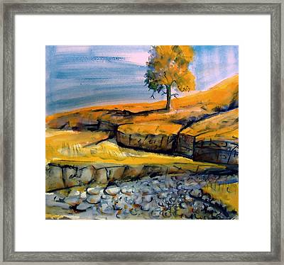 Framed Print featuring the painting Johnny Creek by Steven Holder