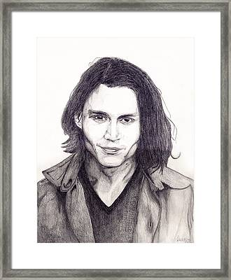 Johnny Depp Framed Print by Debbie McIntyre