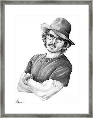 Johnny Depp Framed Print by Murphy Elliott