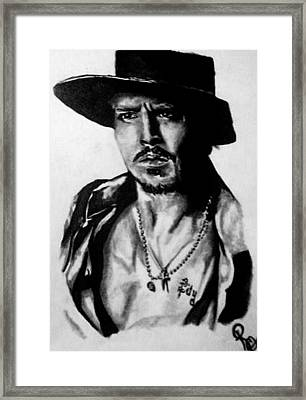 Johnny Depp Framed Print by Pauline Murphy