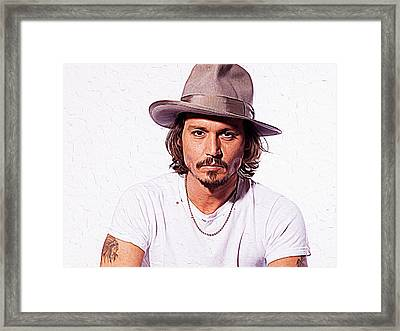 Johnny Depp Framed Print by Iguanna Espinosa