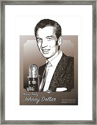 Johnny Dollar Framed Print by Greg Joens