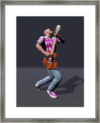 Johnny Guitar 1 Framed Print by Walter Oliver Neal