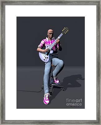 Johnny Guitar 2 Framed Print by Walter Oliver Neal