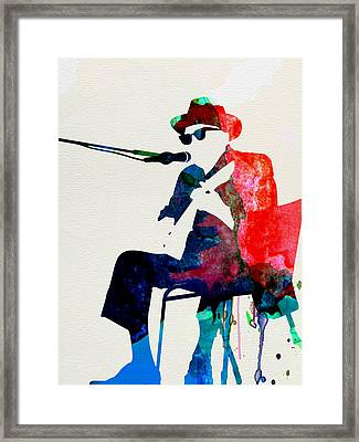 Johnny Lee Hooker Watercolor Framed Print by Naxart Studio