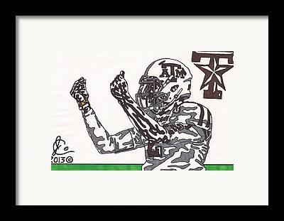 Quarterback Drawings Framed Prints