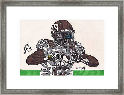 Johnny Manziel 12 Framed Print by Jeremiah Colley