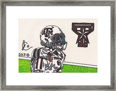 Johnny Manziel 13 Framed Print by Jeremiah Colley