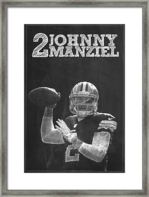 Johnny Manziel Framed Print by Semih Yurdabak