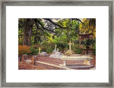 Johnny Mercer Grave Framed Print by Joan Carroll