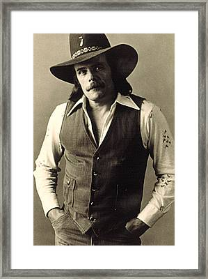 Johnny Paycheck, C. 1970s Framed Print
