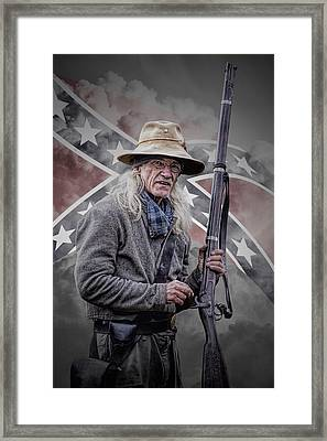 Johnny Reb Framed Print by Randall Nyhof