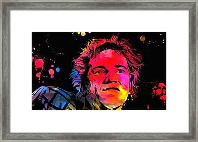 Johnny Rotten Paint Splatter Framed Print by Dan Sproul