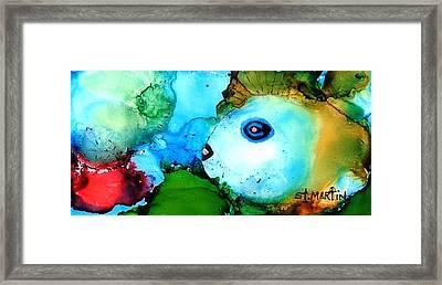 Johnny The Rocker Fish Framed Print by Annie StMartin