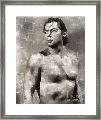 Johnny Weissmuller, Actor, Tarzan Framed Print