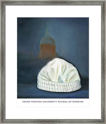 Framed Print featuring the painting Johns Hopkins University School Of Nursing by Marlyn Boyd
