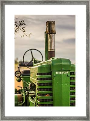 John's Tractor Framed Print by Jake Marvin