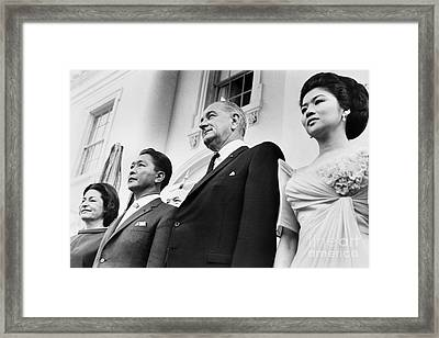 Johnson And Marcos, 1966 Framed Print by Granger