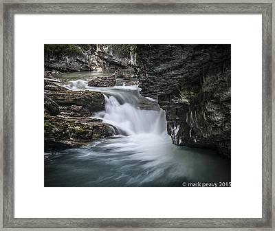 Johnson Canyon Waterfall Framed Print