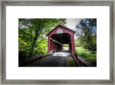 Johnson Covered Bridge Framed Print by Marvin Spates