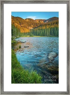 Johnson Lake Morning Framed Print