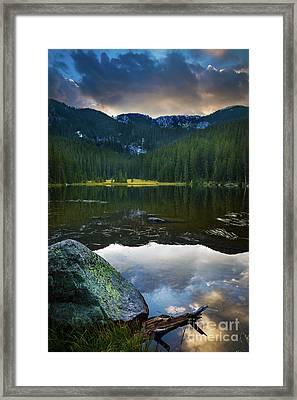 Johnson Lake Twilight Framed Print