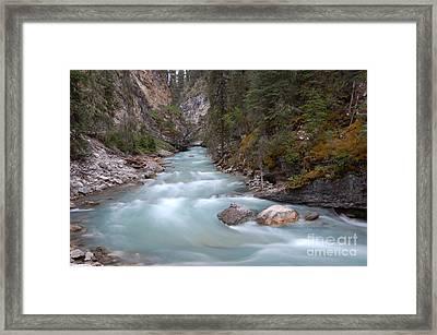 Johnston Canyon In Banff National Park Framed Print by RicardMN Photography