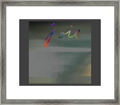 Joie Calm Framed Print
