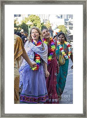 Join Hands And Dance Framed Print