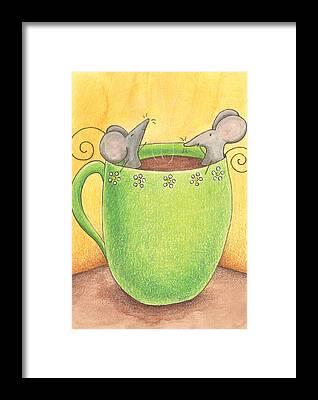 Cups Framed Prints