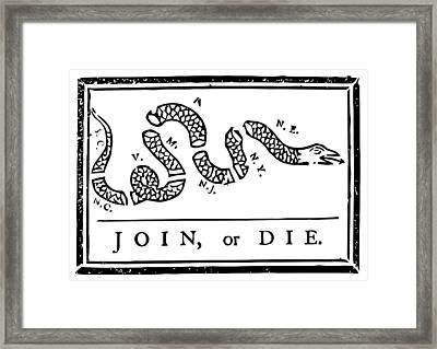 Join Or Die Framed Print by War Is Hell Store