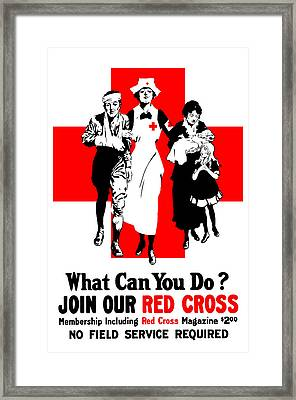 Join Our Red Cross Framed Print