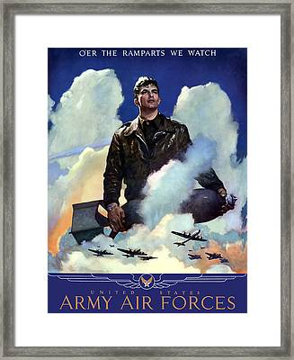 Join The Army Air Forces Framed Print by War Is Hell Store