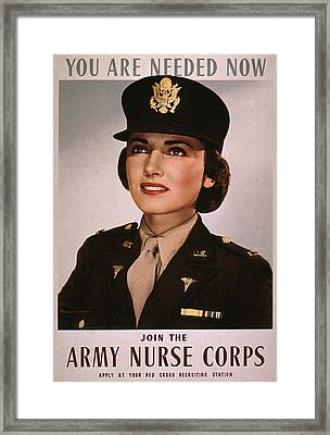 Join The Army Nurse Corps. 1943 Framed Print by Everett
