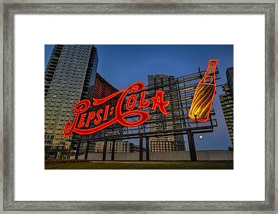 Join The Pepsi Generation Framed Print