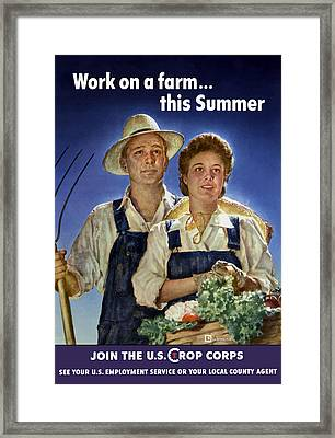 Join The U.s. Crop Corps Framed Print by War Is Hell Store
