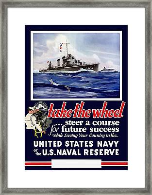 Join The Us Navy - Ww2 Framed Print