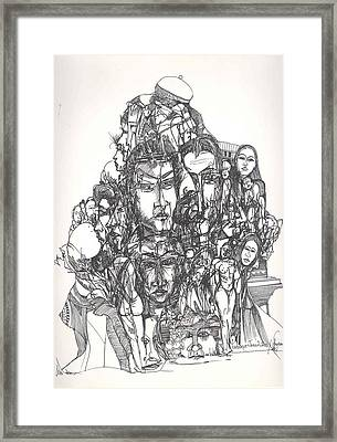 Joined Up Into One Framed Print by Padamvir Singh