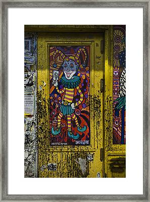 Joker Door New Orleans Framed Print