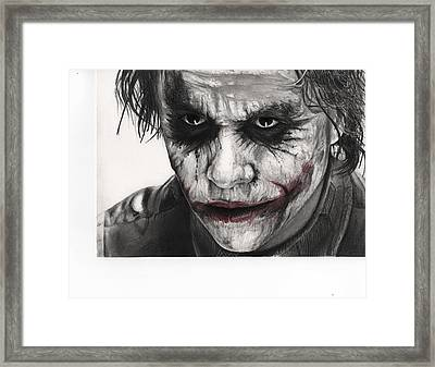 Joker Face Framed Print by James Holko