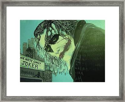 Joker Framed Print by Scott Murphy