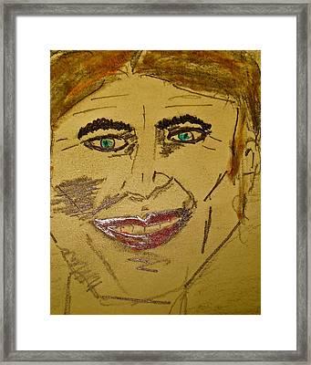 Joker Smiling Framed Print