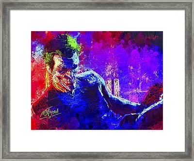 Joker's Grin Framed Print