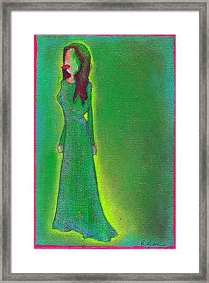 Jolie Green Framed Print
