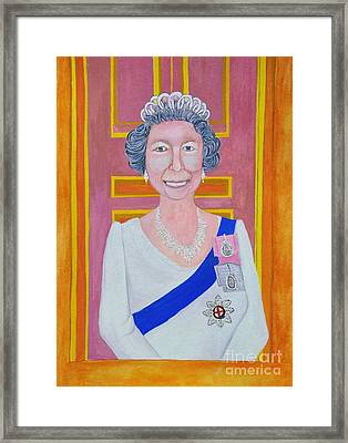 Jolly Good Your Majesty Framed Print